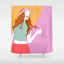 Good Vibes Killing it Girl Shower Curtain