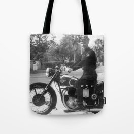 1952 Motorcycle Daddy Tote Bag