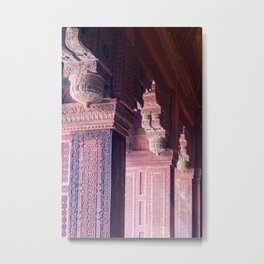 Temple Detail from Old Dehli Metal Print