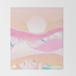 Sunrise Swirls Throw Blanket