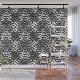 BM 2019 Trending Color Metropolitan, Hale Navy Blue & Snowfall White Diamond Block Pattern Wall Mural