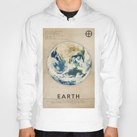 earth Hoodies featuring Earth by Heather Landis