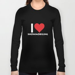 I Heart Snowmobiling Extreme Winter Sports T-Shirt Long Sleeve T-shirt