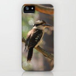 Kookaburra sitting in a gum tree iPhone Case