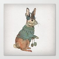 rabbit Canvas Prints featuring Rabbit by David Fleck