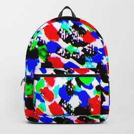 Art Bright Abstract Print Backpack