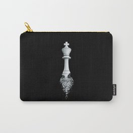 Farewell to the Pale King / 3D render of chess king breaking apart Carry-All Pouch