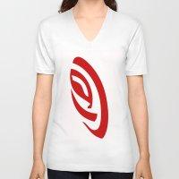 erotic V-neck T-shirts featuring Erotic Symbolism by IZ-Design