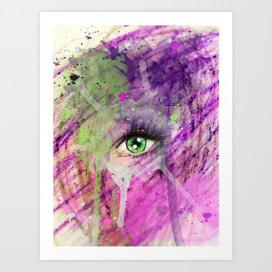 The eye of madness... Art Print