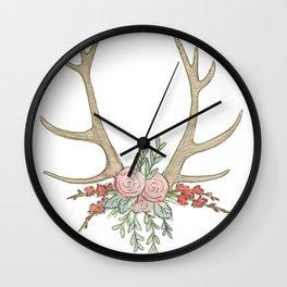 Hello Deer Wall Clock