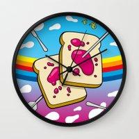 nirvana Wall Clocks featuring Breakfast Nirvana by Kazze