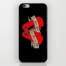 I love you cos you're hip iPhone Skin