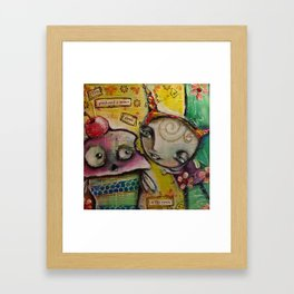 Panic In The Town Framed Art Print