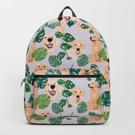 Golden Retrievers Tropical Backpack
