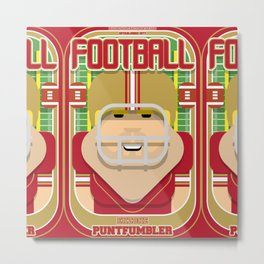 American Football Red and Gold - Enzone Puntfumbler - Sven version Metal Print