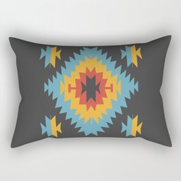 Santa Fe Southwestern Native Navajo Indian Tribal Geometric Pattern Rectangular Pillow