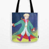 le petit prince Tote Bags featuring Le Petit Prince by parkers