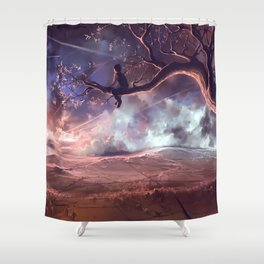 It made scars in the sky  Shower Curtain