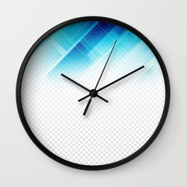 Blue geometric technological background Wall Clock