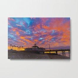Sunrise Over Newport Lifeguard Headquarters Metal Print