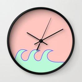 Sea Foam-o (Millennial Pink Edition) Wall Clock
