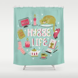 Cozy Hygge Life Shower Curtain