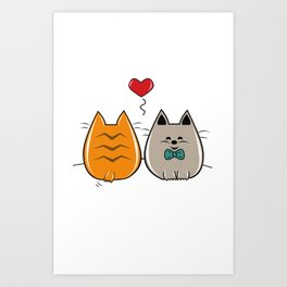 Kitty Chan In Love Art Print
