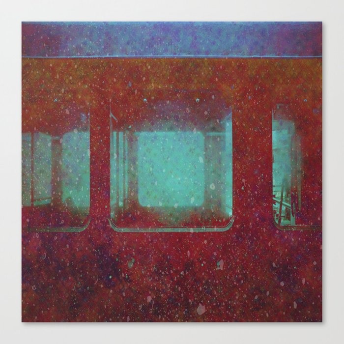 Into the City, Structure Windows Grunge Canvas Print