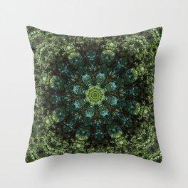 """Forest Guardians"" Mandala Throw Pillow"