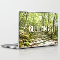 hiking Laptop & iPad Skins featuring Go Hiking by Jennifer Kimberly