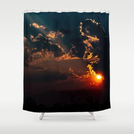 Smoke Equals Unbelievable Sunset Shower Curtain
