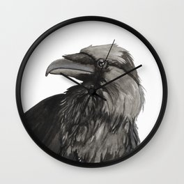 The Raven Wall Clock