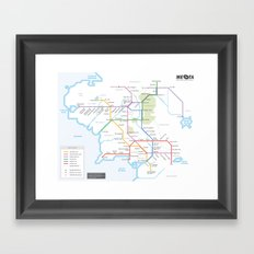 Middle Earth Transit Map Framed Art Print