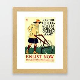 Join the US School Garden Army Framed Art Print