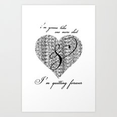 Cross my heart, cross my fingers. Art Print
