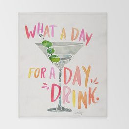 What a Day for a Day Drink – Melon Typography Throw Blanket