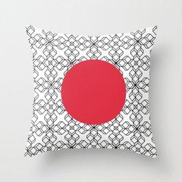 red geometric circle Throw Pillow
