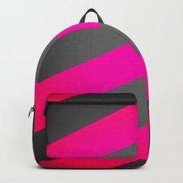 Hot Pink & Gray Diagonal Stripes Backpack