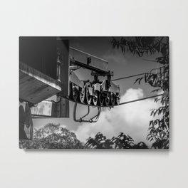 Gondola Pulleys Metal Print