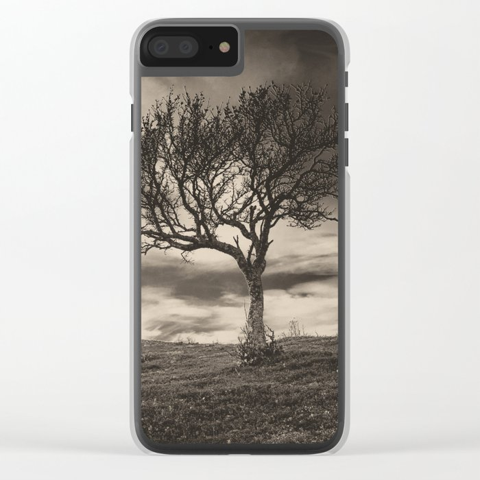 Lonely tree Clear iPhone Case