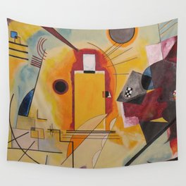 Wassily Study Repro yellow red blue 1925  Wall Tapestry