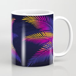 Neon Leaves Coffee Mug