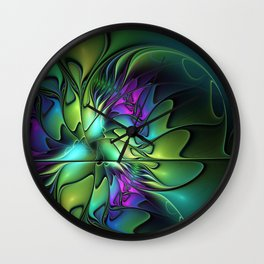 Colorful And Abstract Fractal Fantasy Wall Clock