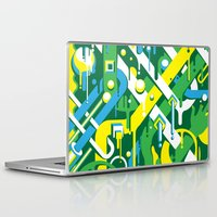 brazil Laptop & iPad Skins featuring Brazil by Roberlan Borges