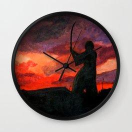 Samurai Sunset Wall Clock