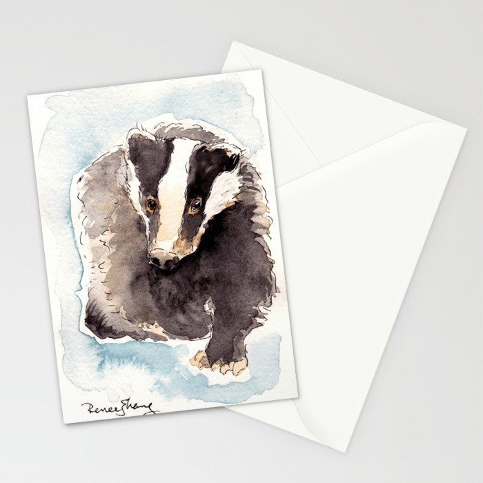 The Badger Stationery Cards