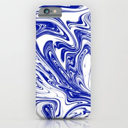 Marble,liquified graphic effect decor iPhone Case