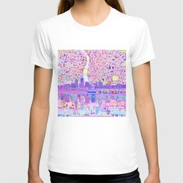 portland city skyline T-shirt