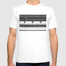 Architecture in black & white MEDIUM Mens Fitted Tee White