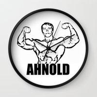arnold Wall Clocks featuring Arnold Schwarzenegger  |  AHNOLD by Silvio Ledbetter